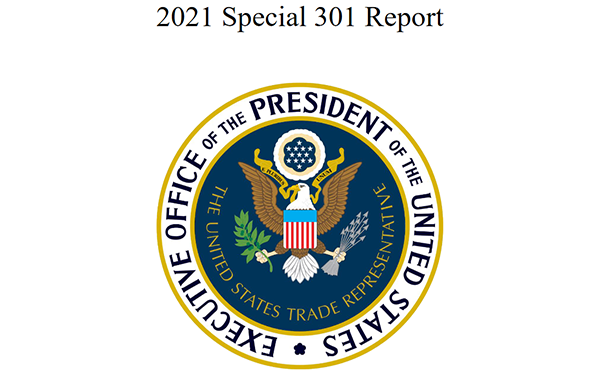 USTR releases Annual Special 301 Report on Intellectual Property Protection